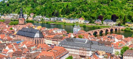 大学季節コース ハイデルベルクの旧市街を見下ろす眺望