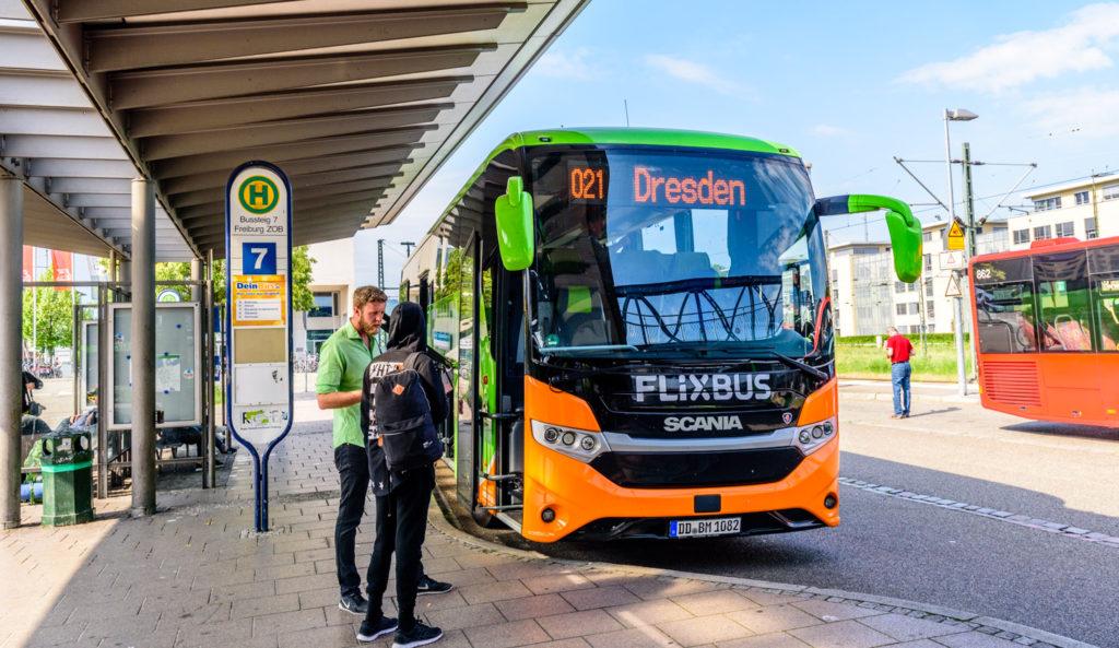 フライブルクのバスの駅