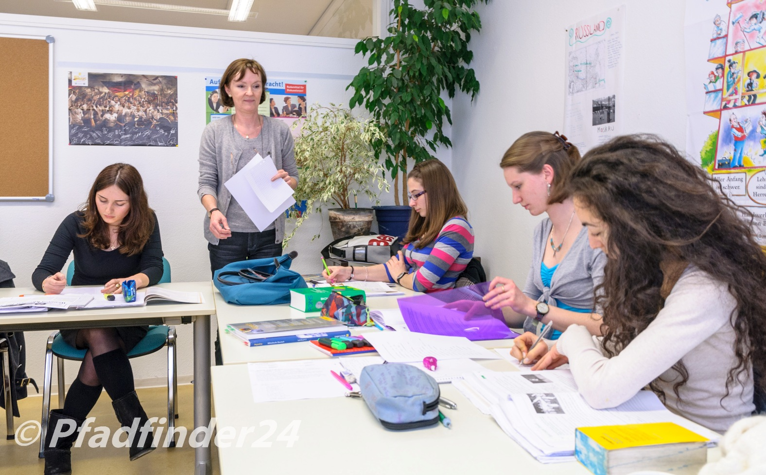フライブルクの語学学校 zum Ehrstein 授業中