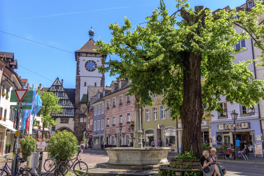 フライブルク旧市街のシュヴァーベン塔