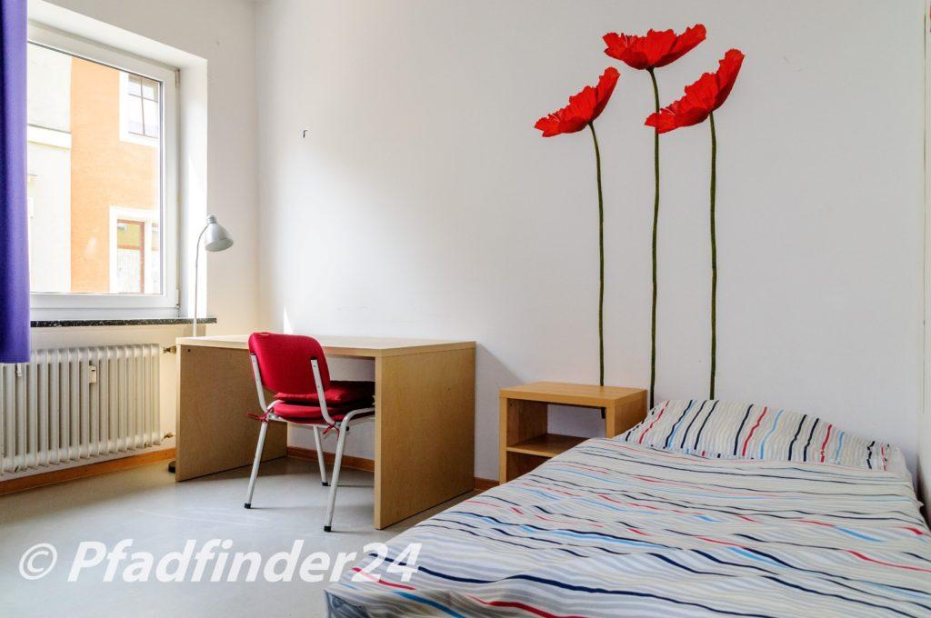 世界遺産都市 レーゲンスブルクのドイツ語専門学校 Horizonte 学生寮の部屋