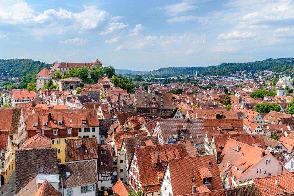 Sprachinstitut Tübingen 高台からの街並み