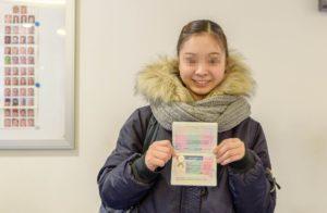 ドイツの滞在ビザ ドイツの滞在ビザを取得した日本人女性
