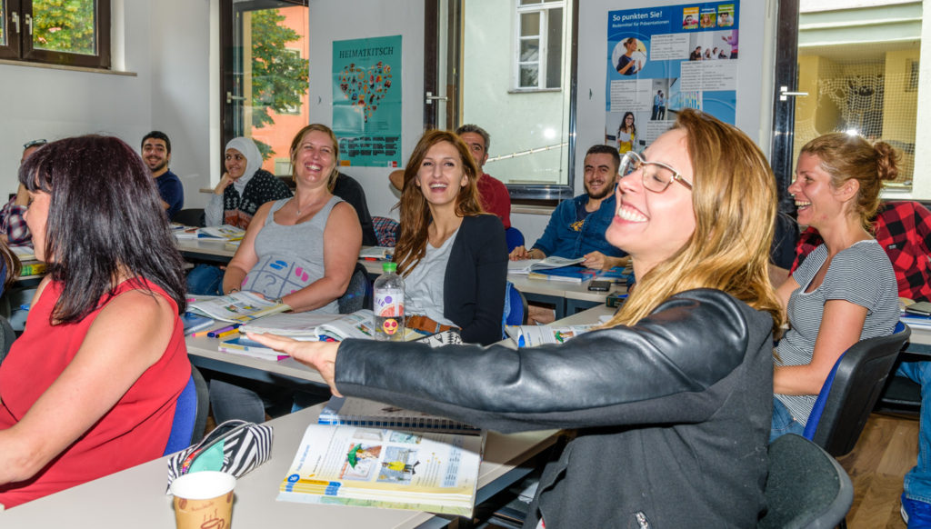 ドイツ語の授業の光景