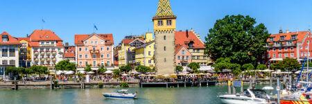 ドイツの観光名所 リンダウの港