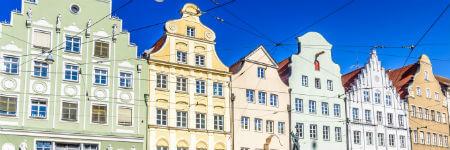 ドイツの観光名所 アウグスブルクの町並み