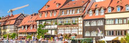 ドイツの観光名所 バンベルクの漁師の家