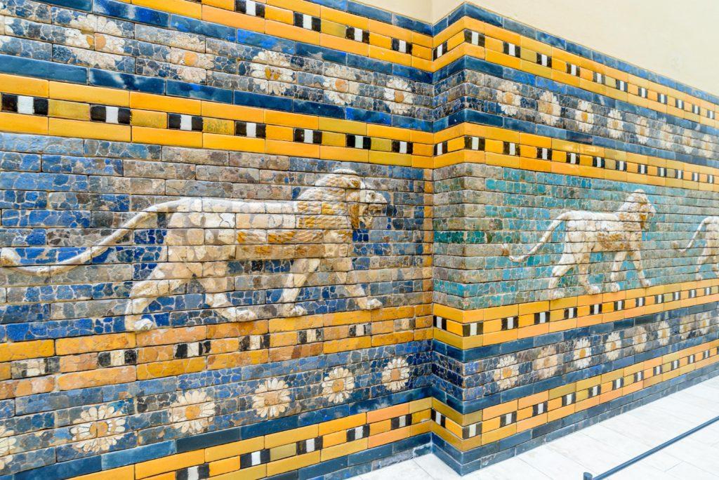 イシュイタール門 モザイクのライオン