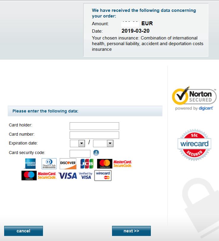 【英語版】ドクターヴァルター 保険 お申し込み  ドイツ留学専門店 Pfadfinder24
