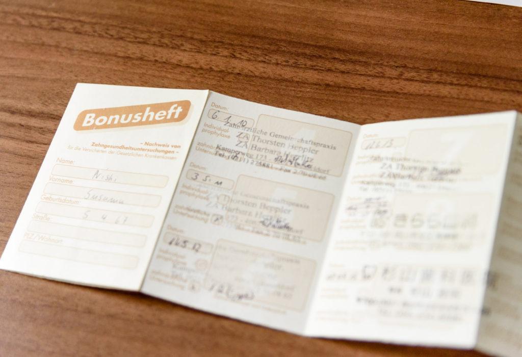 ドイツの健康保険制度 ボーナス冊子