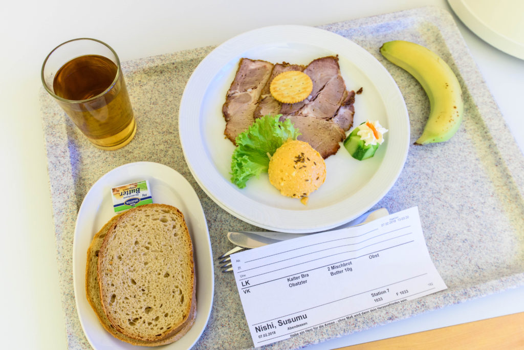 入院中の病院の食事