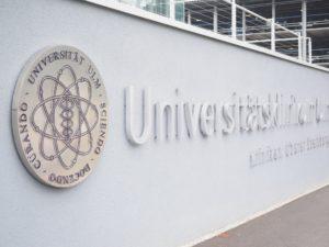 ウルム大学の看板