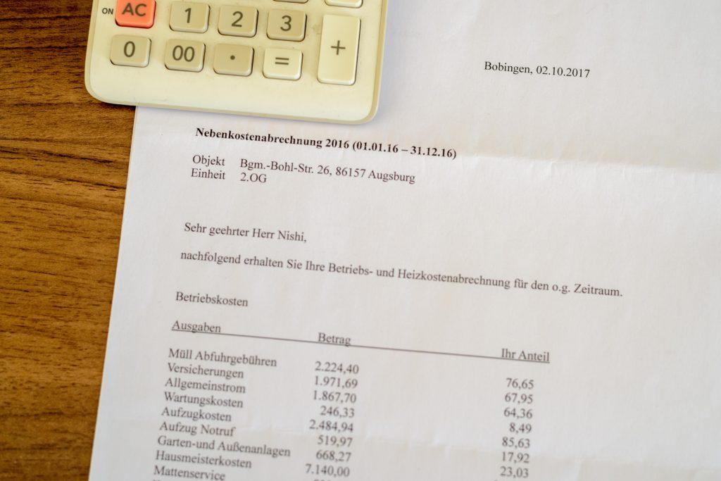 ドイツで部屋探し 年末調整のお知らせ