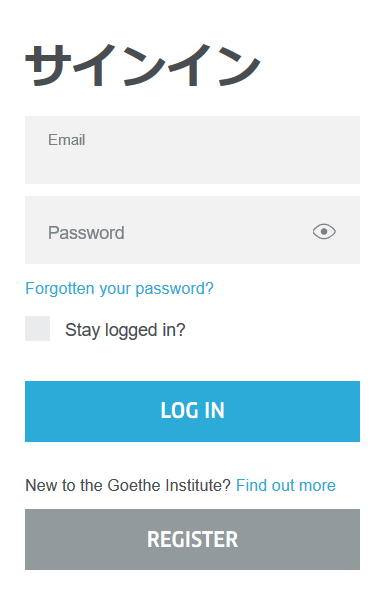 """2. """"REGISTER""""をクリックしてください。(まだ登録されていない方は。)"""