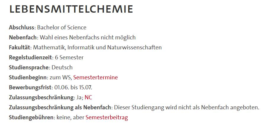 ハンブルク大学の専攻