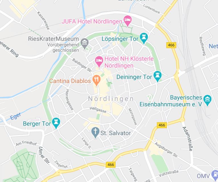 ネルトリンゲン 旧市街地図