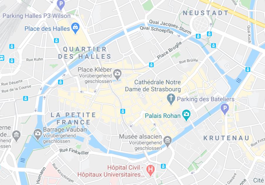 シュトラースブルク地図