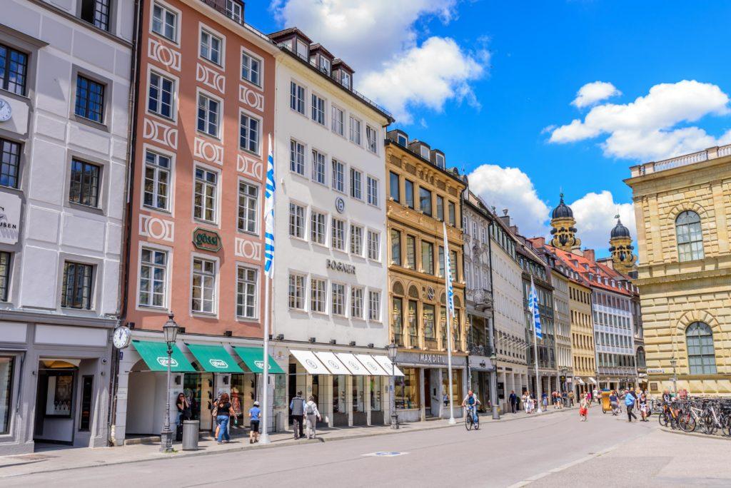 ミュンヘン  旧市街のビル