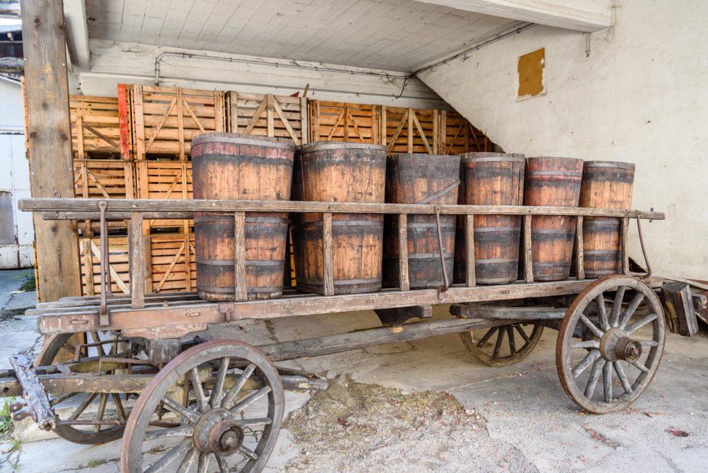 ワイン収穫樽