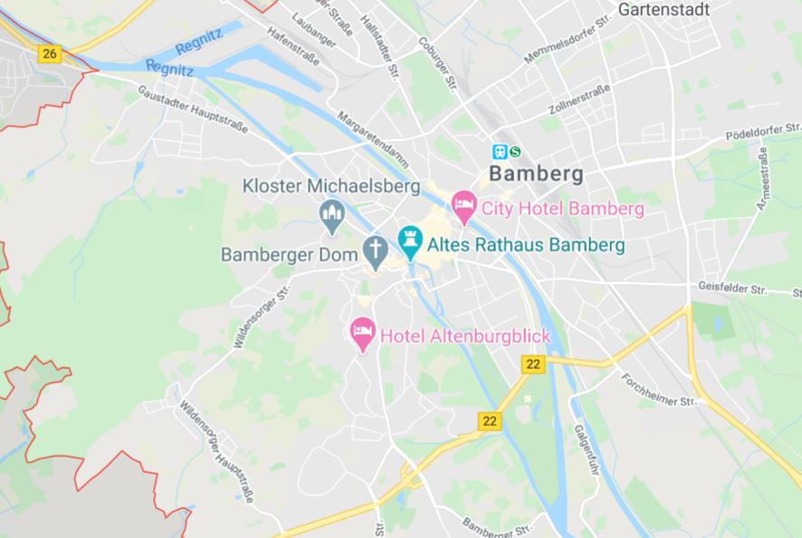 バンベルク の地図