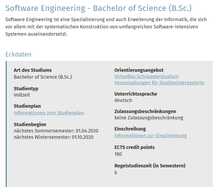 Software Engineering 案内
