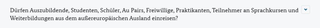 ドイツ内務省の渡航制限条項