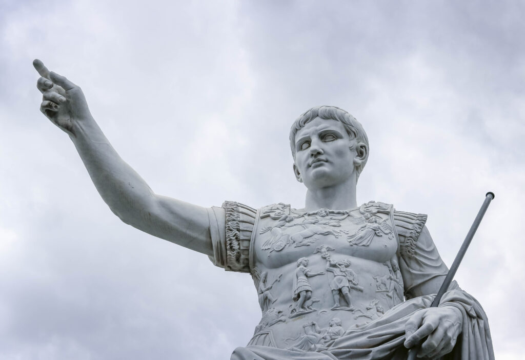 Cäserの大理石像