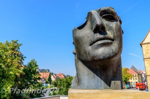 バンベルク 顔の銅像