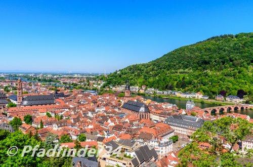 ハイデルベルク の旧市街を一望
