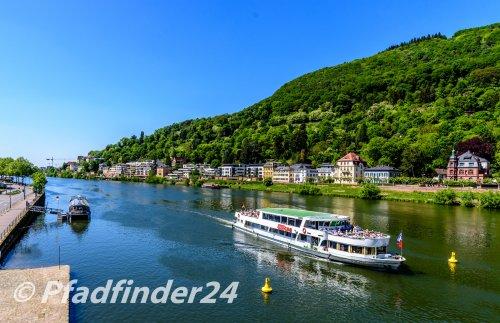 ネッカー河と観覧船