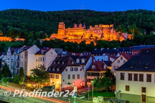 夜景に浮かぶ城