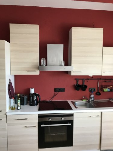 学生寮のキッチン 電気コンロ